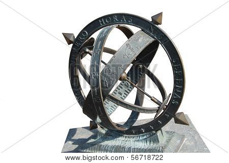 Armillary Sphere Isolated On White