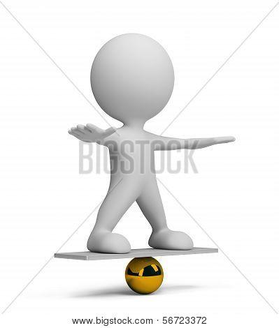 3D Person In Equilibrium