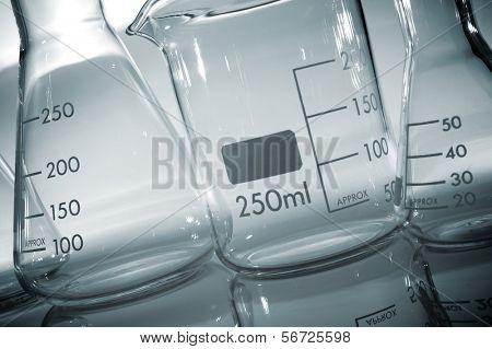 glassware detail in a laboratory