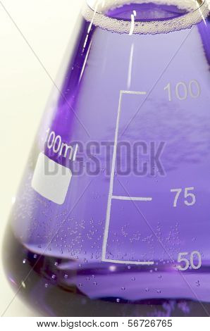 detail of a graduated flask hundred milliliters