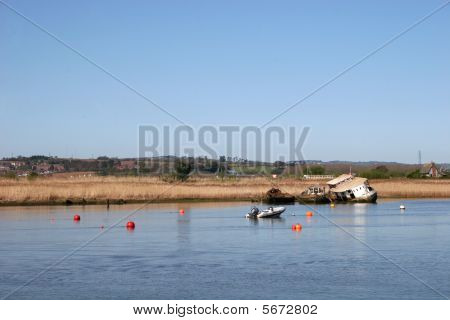 Yacht In River Exe