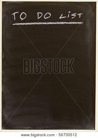 to do list written on a blackboard