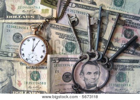 Cash Pocketwatch Keys and Lincoln