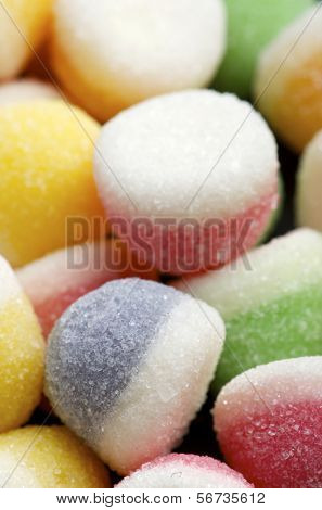 group of differenet colors of jelly beans