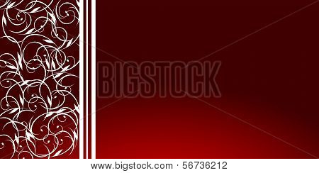 Background-Burgandy And White