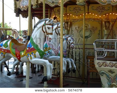 Paris With An Old Merry Go Round