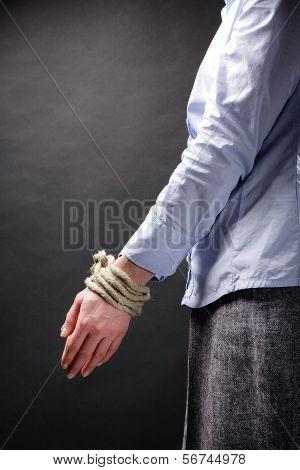 Business Metaphor - Tied Up Hands