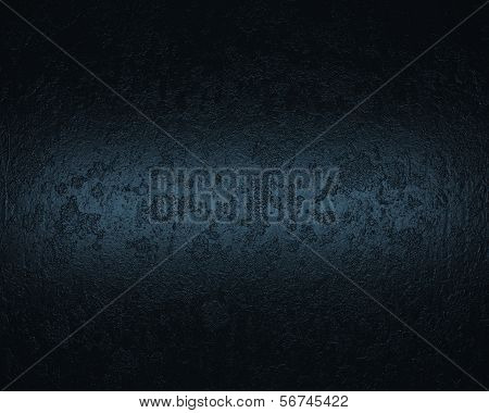 blue background and black vignette border frame