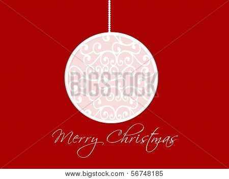 Merry Christmas card with a ball