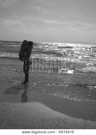 schöne paar am Strand