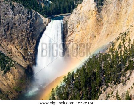 Morning Rainbow, Lower Falls, Yellowstone River