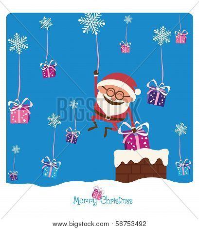 Santa & Chimney & Christmas Gifs