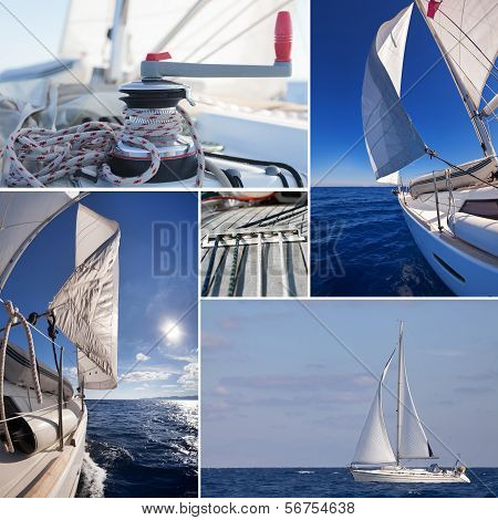 Collage Of Sailing Boat Stuff