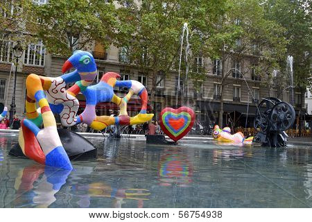 Stravinsky Fountain in Paris