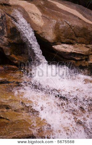 Small Sierra Waterfall Profile
