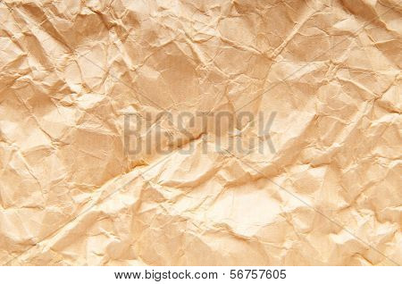 Wrinkled paper close up for your background