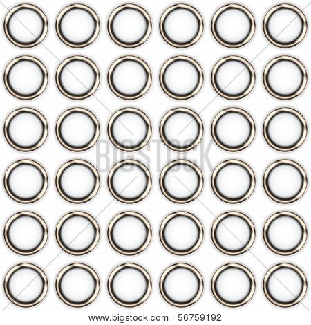 Metal Rings On A White Background