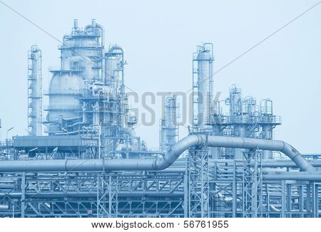 Gas-Verarbeitung-Fabrik. Landschaft mit Gas und Öl-Industrie
