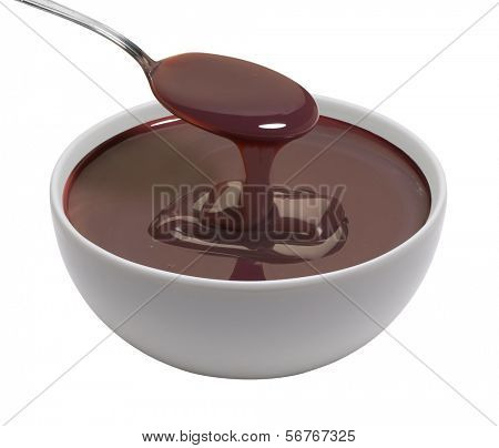 cup of melted chocolate