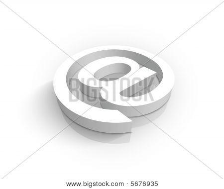 White At symbol