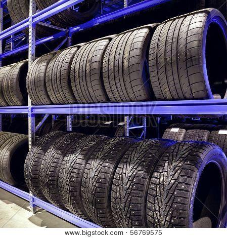 Car Tires Closeup