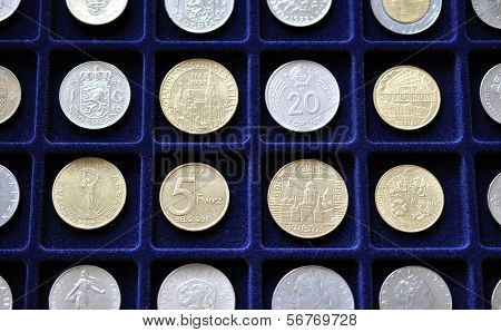 Old coins for numismatic mat