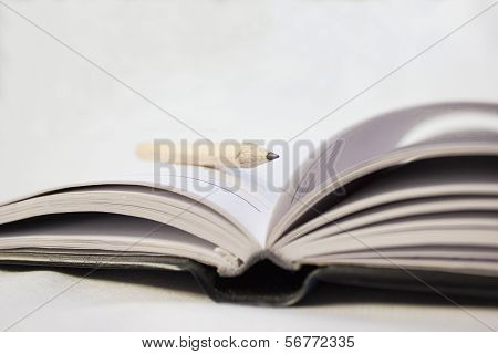 Pencil On A Book