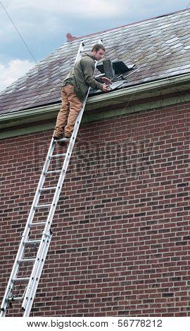 Slate Roof Work