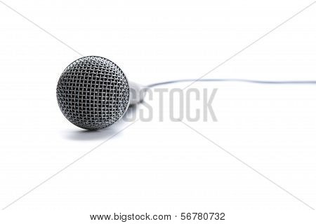 Professional Microphone On White Background
