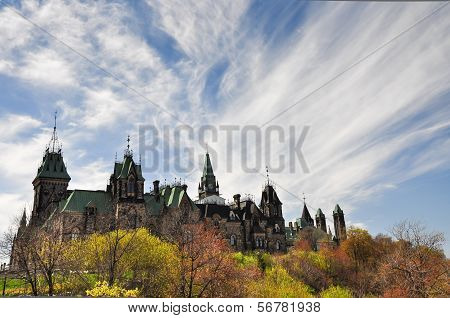 The Canadian Parliament Building In Ottawa