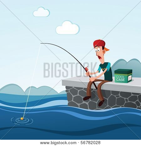 fishing in the dock
