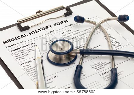 Patient Medical History Document