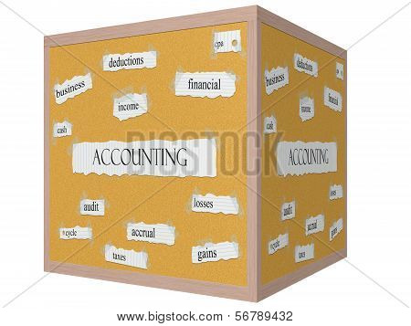 Accounting  Cube Word Concept