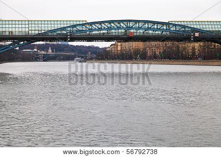 Pushkinsky Bridge Across The Moscow River