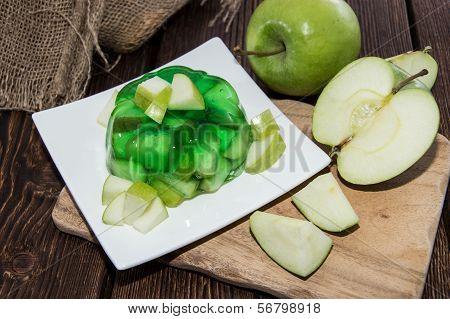 Portion Of Apple Jello