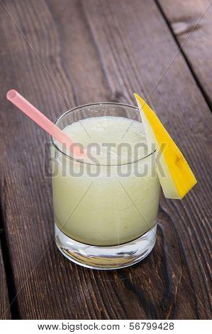Glass With Fresh Honeydew Juice