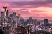 December Sunset in Seattle