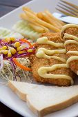 image of dory  - Pacific Dory fish steak with vegetables salad - JPG