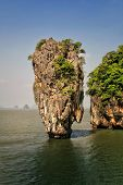 stock photo of james bond island  - Ko Tapu island in Phang Nga Bay Thailand. James Bond island from the The Man with the Golden Gun