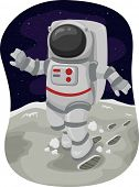 foto of outerspace  - Illustration of an Astronaut Doing a Moonwalk in Space - JPG