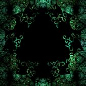 Abstract decorative globule template in green