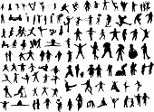 stock photo of hulahoop  - Lot of Silhouette figures - JPG