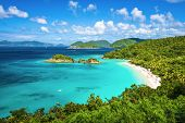 picture of atlantic ocean beach  - Trunk Bay - JPG