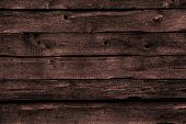 stock photo of walnut-tree  - dark brown wood panels - JPG
