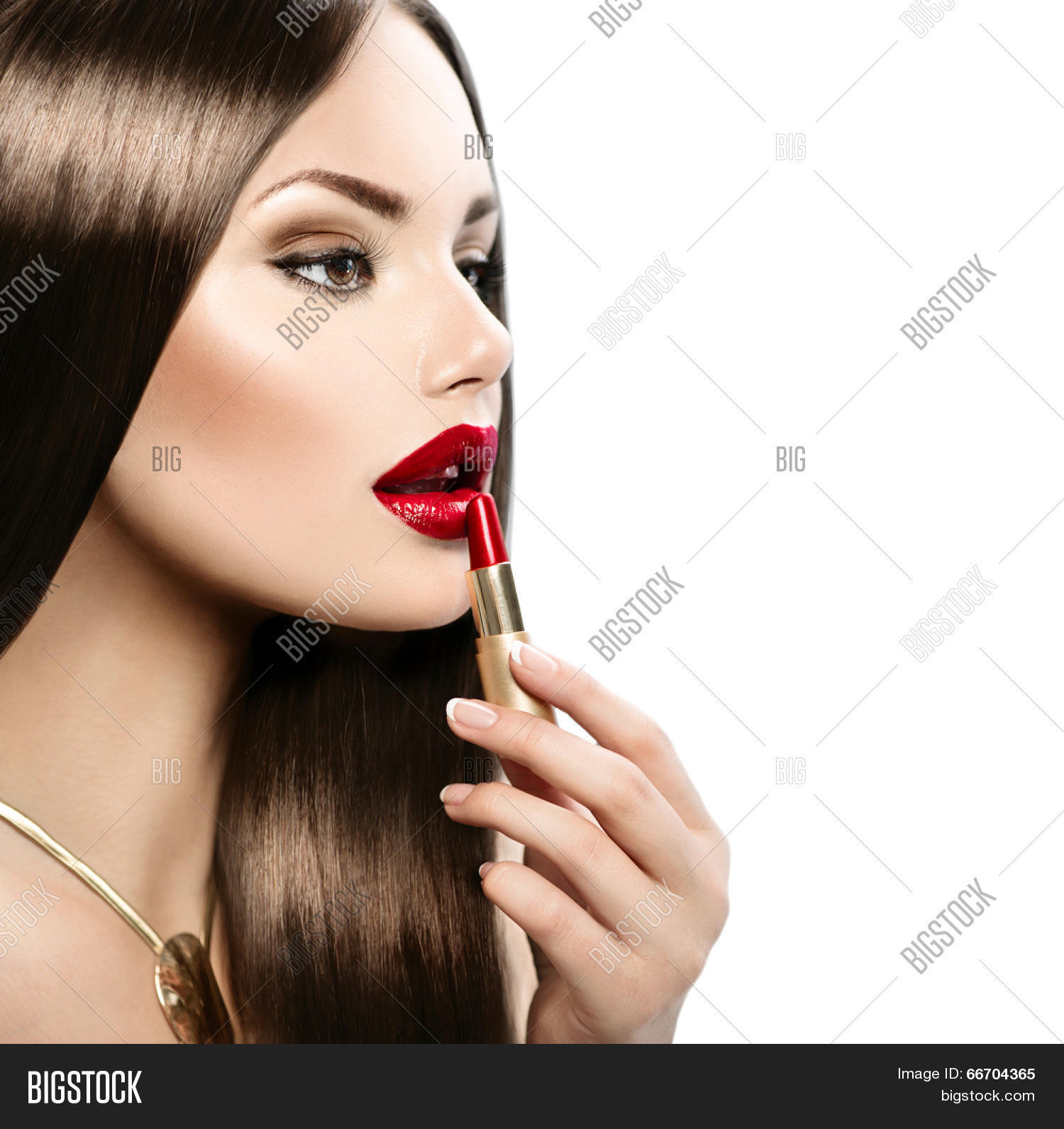 Sexy women with lipstick on