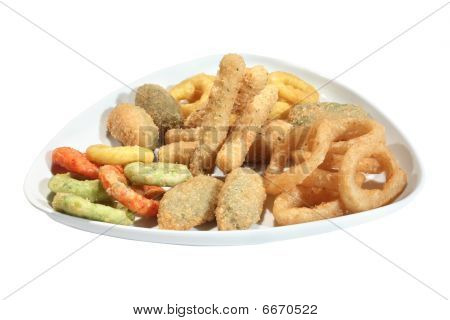 Mix Of Fried Seafood Snacks