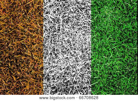 Cote D,ivoiry Flag Color Grass Texture Background