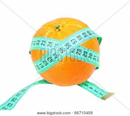 Measure Tape On Orange Tangerine