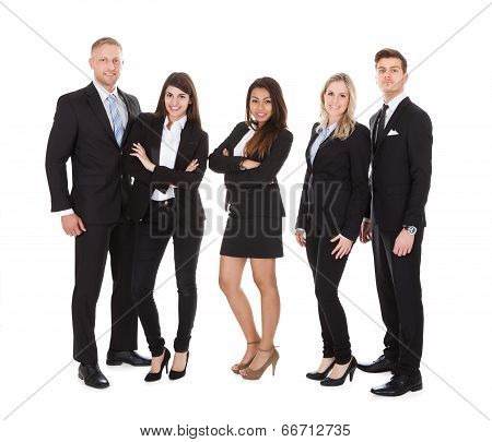 Portrait Of Welldressed Businesspeople