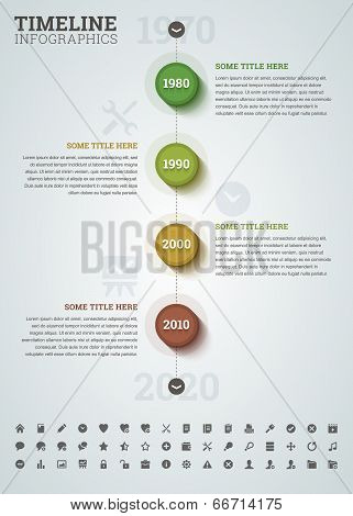 Timeline Infographic With Icons.